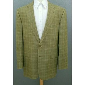 Burberry Silk Wool Window Plaid Check Sport Jacket